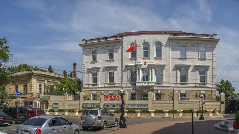 Konsulat Chiny w Odessa, Ukraina zdjęcie royalty free