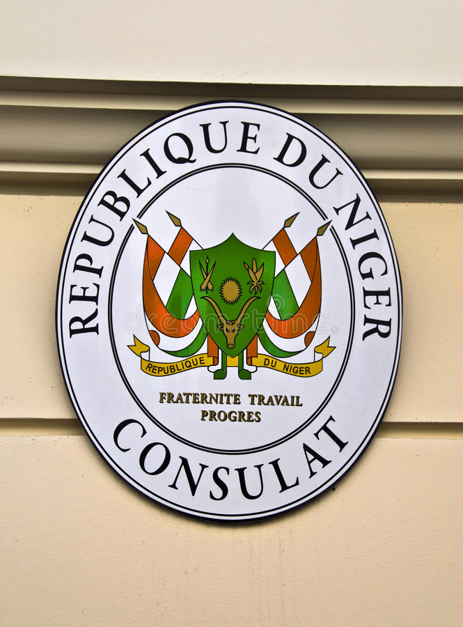 Konsulat Niger obrazy royalty free