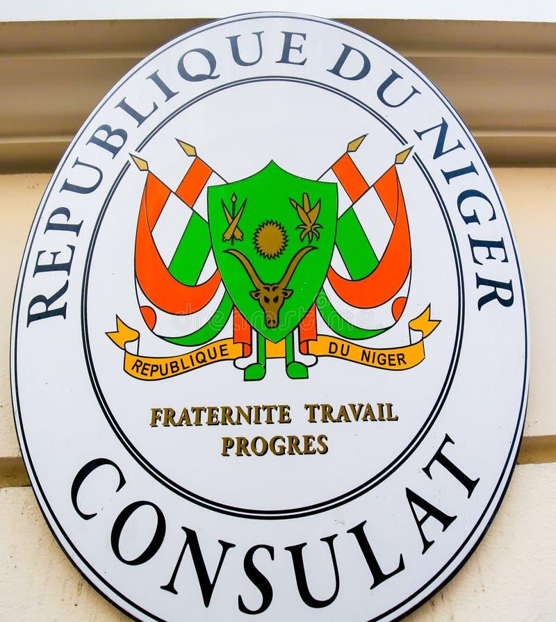 Konsulat republika Niger w Monaco fotografia royalty free