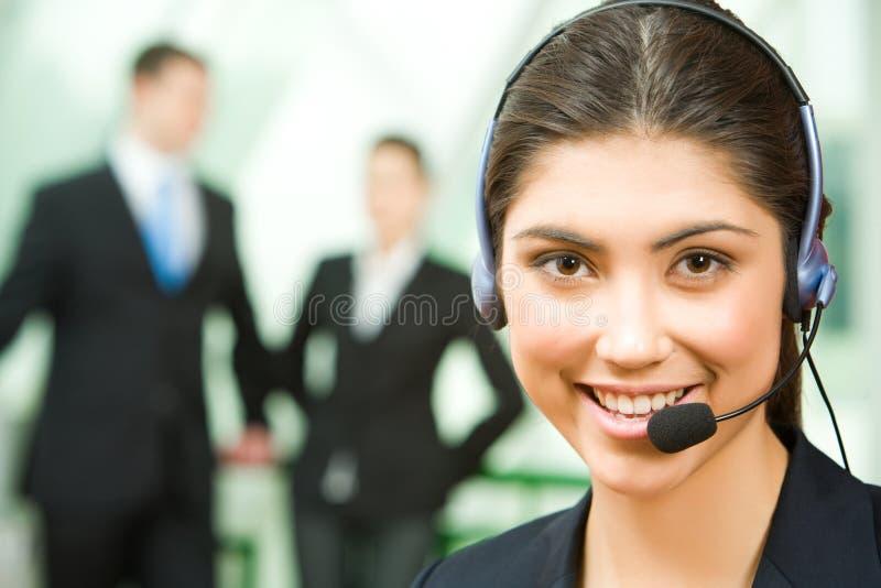 konsulenthörlurar med mikrofon royaltyfri bild