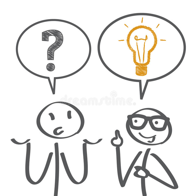 konsultation stock illustrationer