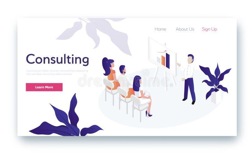 Konsultera för företag vektor illustrationer