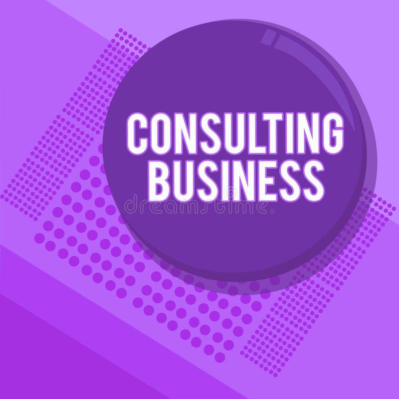 Konsulterande affär för handskrifttexthandstil För konsulteringfirma för begrepp ger menande experter yrkesmässig rådgivning royaltyfri illustrationer