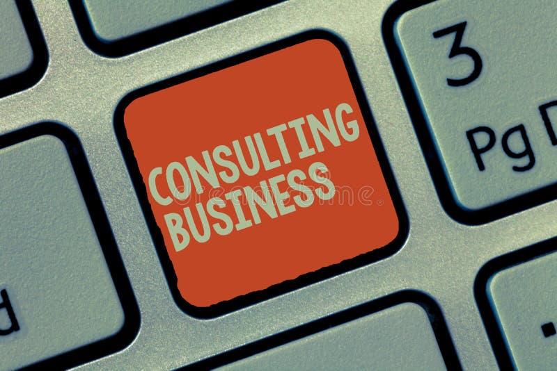 Konsulterande affär för ordhandstiltext Affärsidéen för experter för konsulteringfirma ger yrkesmässig rådgivning vektor illustrationer