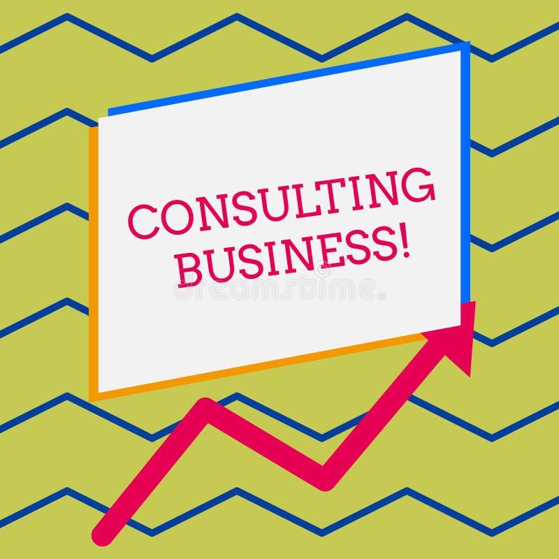Konsulterande aff?r f?r ordhandstiltext Affärsidéen för experter för konsulteringfirma ger ojämn yrkesmässig rådgivning vektor illustrationer