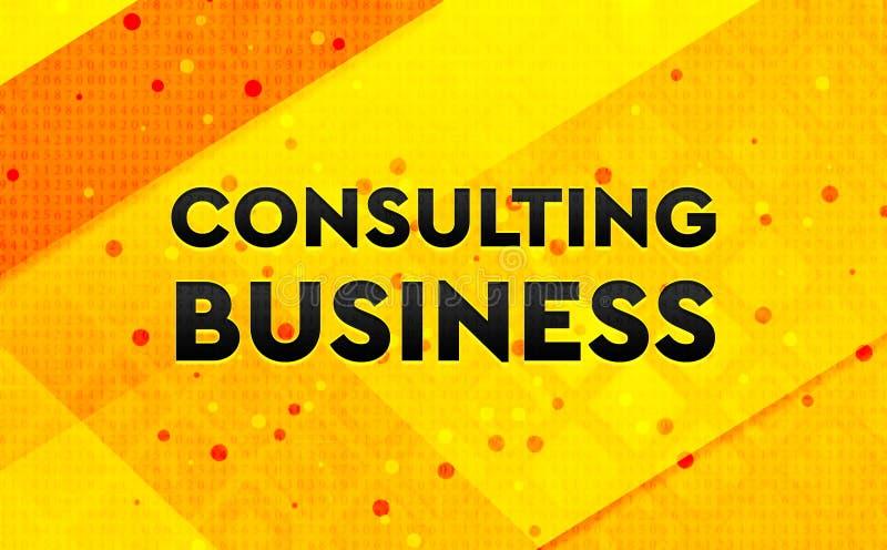 Konsulterande bakgrund för abstrakt digitalt baner för affär gul royaltyfri illustrationer
