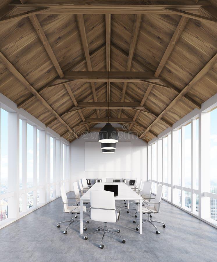Konsulterande company& x27; s-kontor i loft stock illustrationer
