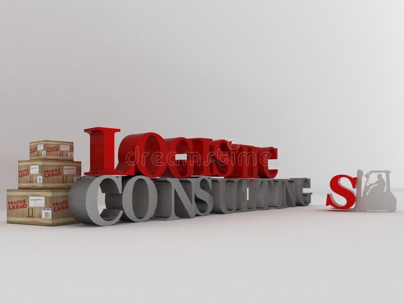 konsulterande logistik stock illustrationer