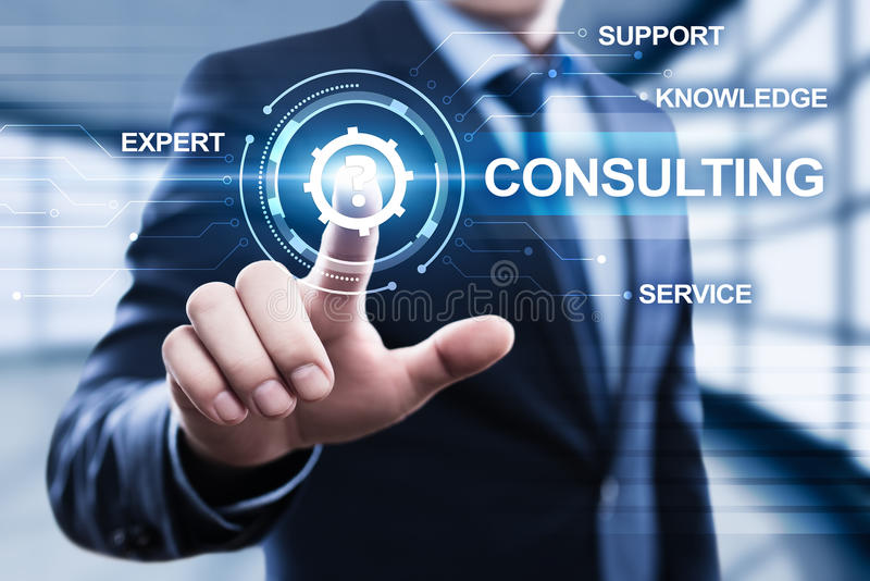 Konsulterande supporttjänstaffärsidé för sakkunnig rådgivning royaltyfri bild
