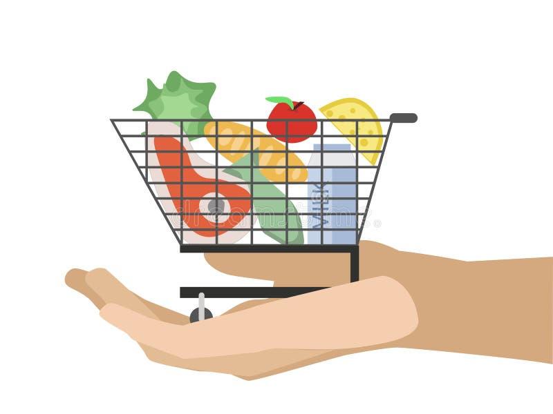 Konsumentkorg för medborgare stock illustrationer