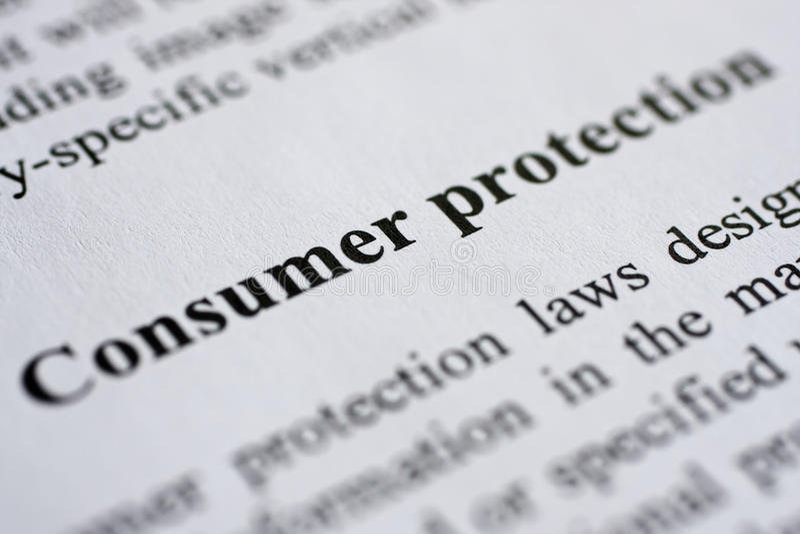 konsumentskydd royaltyfri foto