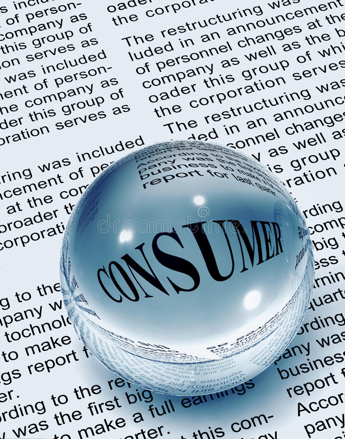 konsumenttidningsord stock illustrationer