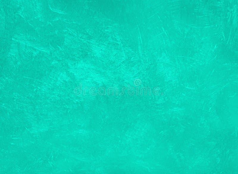 Konsystencja betonu odcienia w modnym kolorze Aqua Menthe Tło ściany Stucco fotografia royalty free