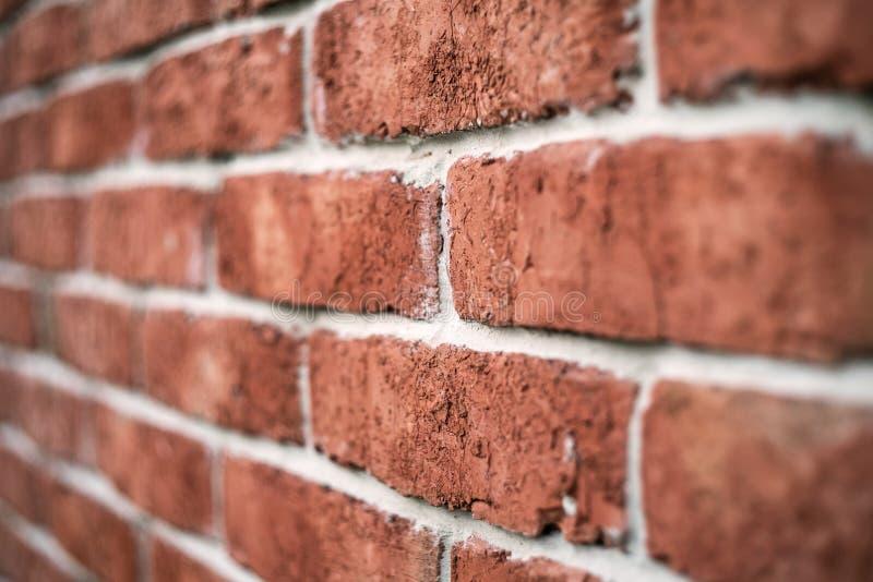 Konsystencja muru z cegły czerwonej na tle z winietowanymi narożnikami obraz stock