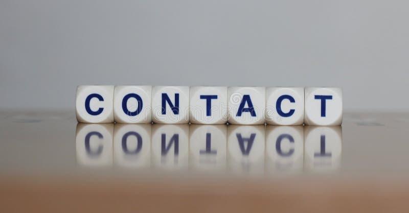 Kontakt stockbilder