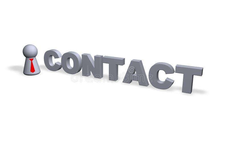 kontakt stock illustrationer