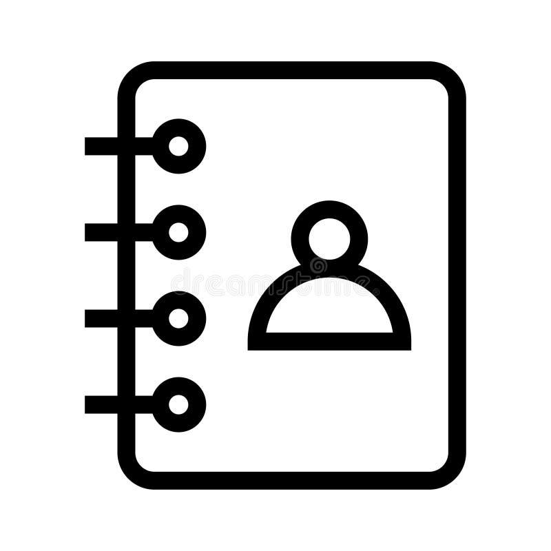 Kontakt-Buchlinie ico vektor abbildung