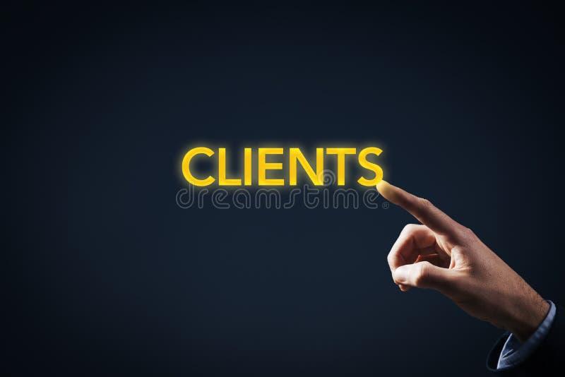 Kontakt med klienter royaltyfria foton