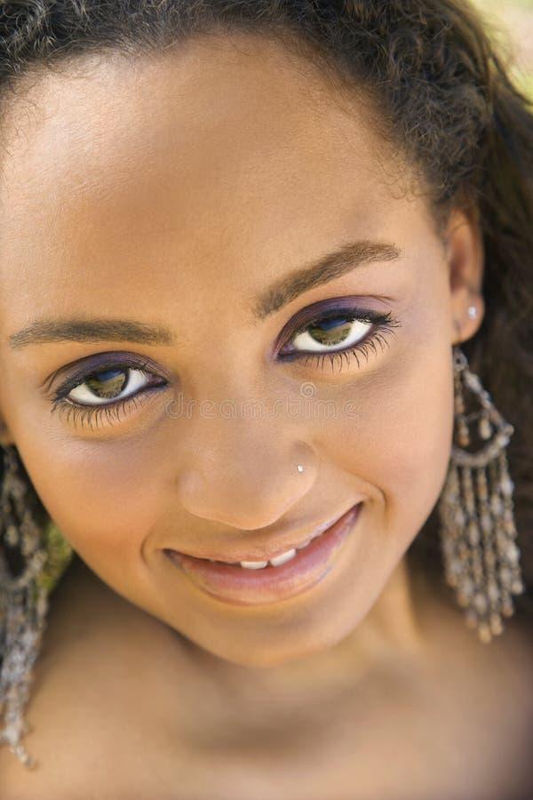 kontakt oka dorosłych kobiet, fotografia royalty free
