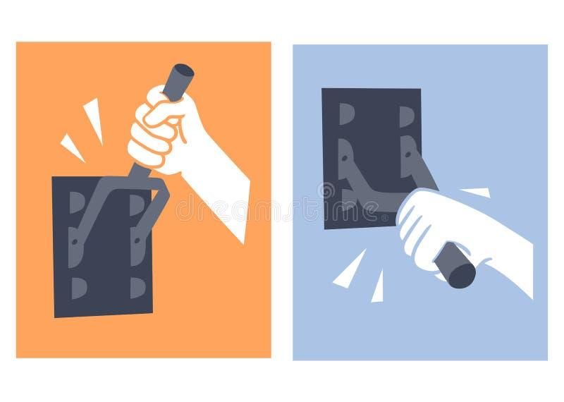 Kontakt-säkerhetsbrytare vektor illustrationer