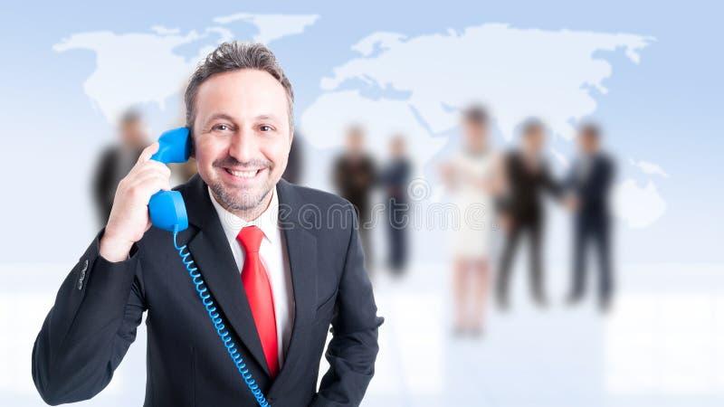 Kontakt-, service- eller företagshjälp royaltyfria bilder
