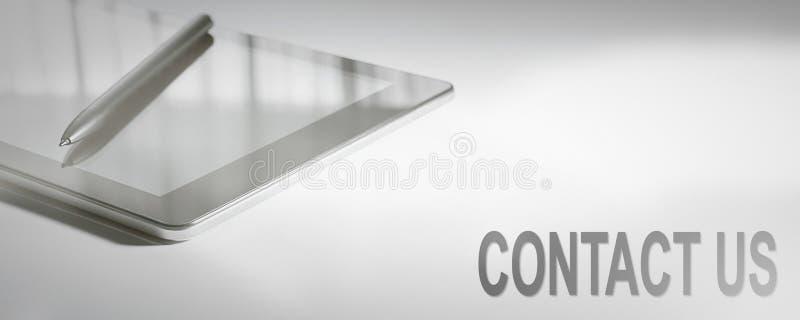 KONTAKT-US-Geschäfts-Konzept-Digitaltechnik stockbild