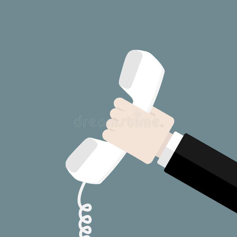 Kontakt vid telefonen stock illustrationer