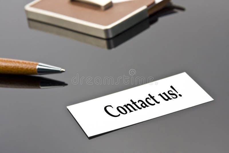 kontakta oss royaltyfri bild