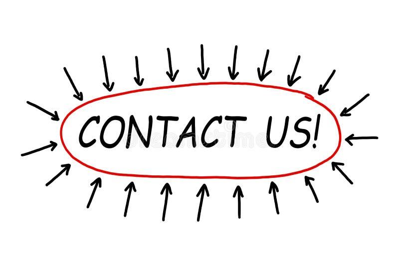 Kontakta oss! arkivfoto