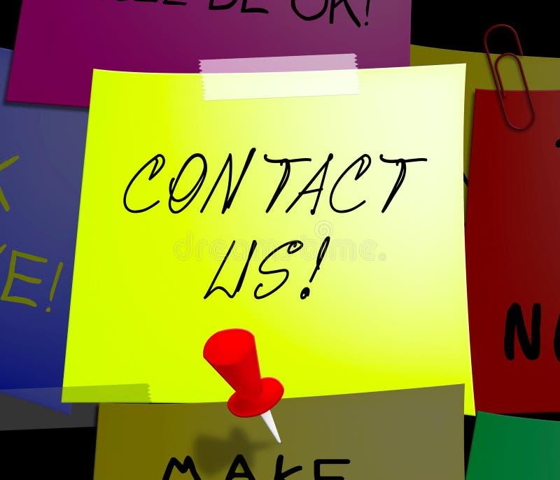 Kontakta oss illustrationen för skärmkundtjänst 3d stock illustrationer