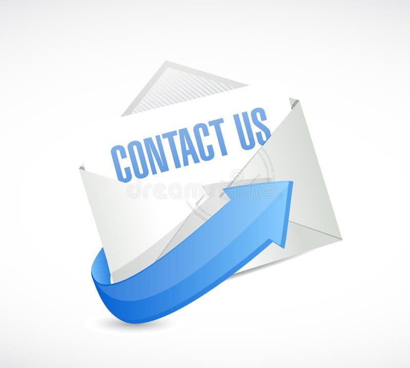 kontakta oss postteckenbegreppet stock illustrationer