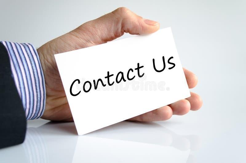 Kontakta oss textbegreppet arkivfoton