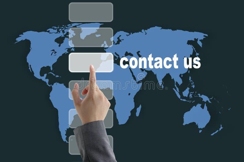 kontakta oss världen royaltyfria bilder