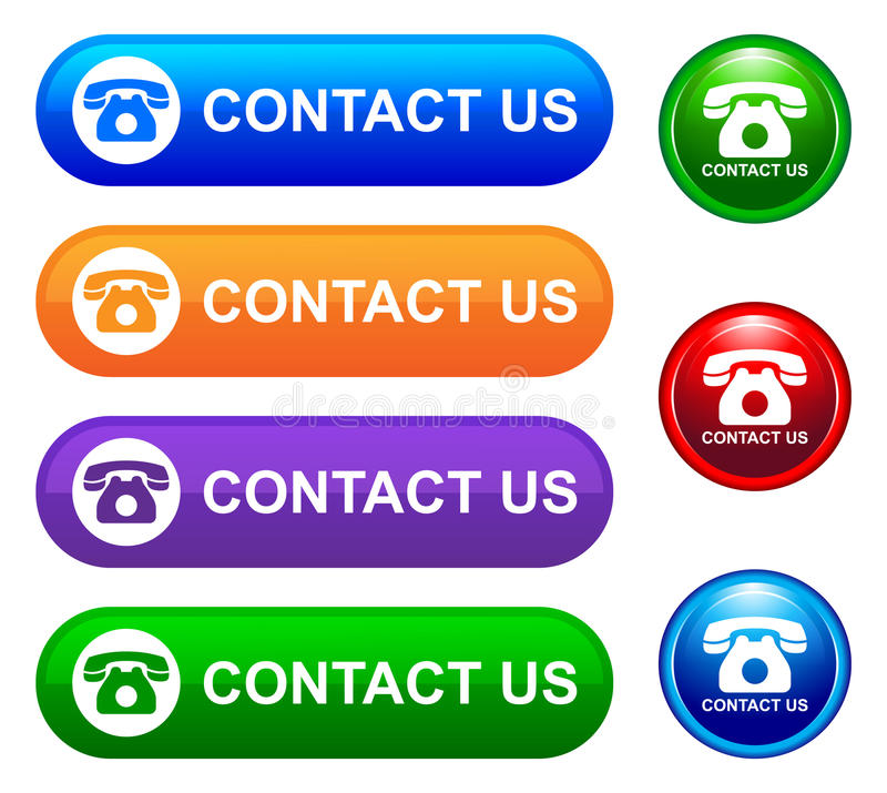 kontakta post phone oss royaltyfri illustrationer