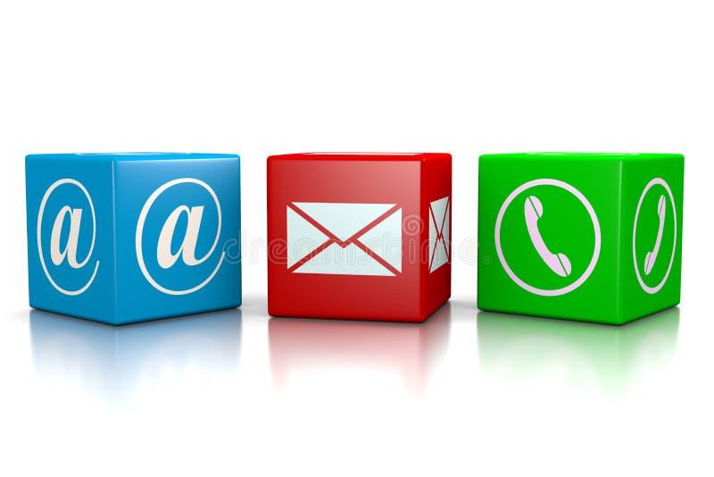 kontakta post phone oss arkivbild
