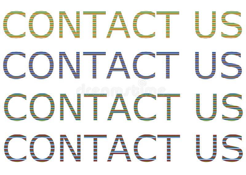 kontakta post phone oss stock illustrationer