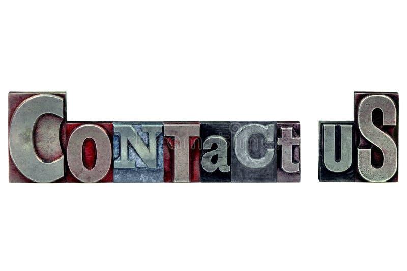 kontaktboktryck oss royaltyfria bilder
