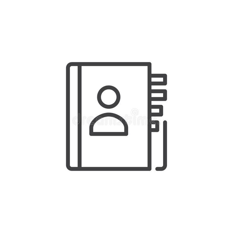 Kontaktbuchlinie Ikone vektor abbildung