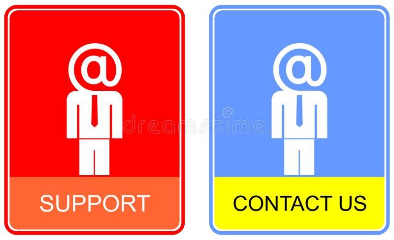 kontakten undertecknar oss stock illustrationer