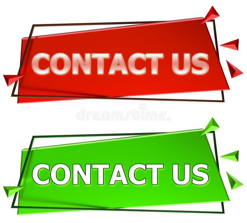 kontakten undertecknar oss vektor illustrationer