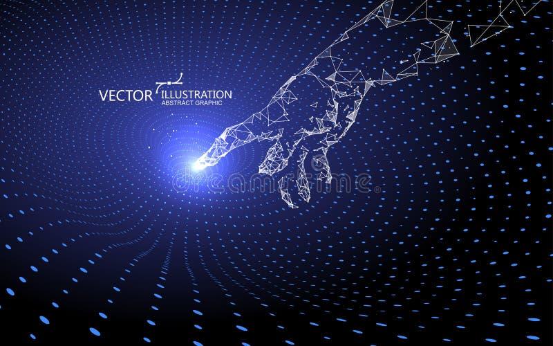 Kontaktgravitationswellen, Technologiehintergrund stock abbildung