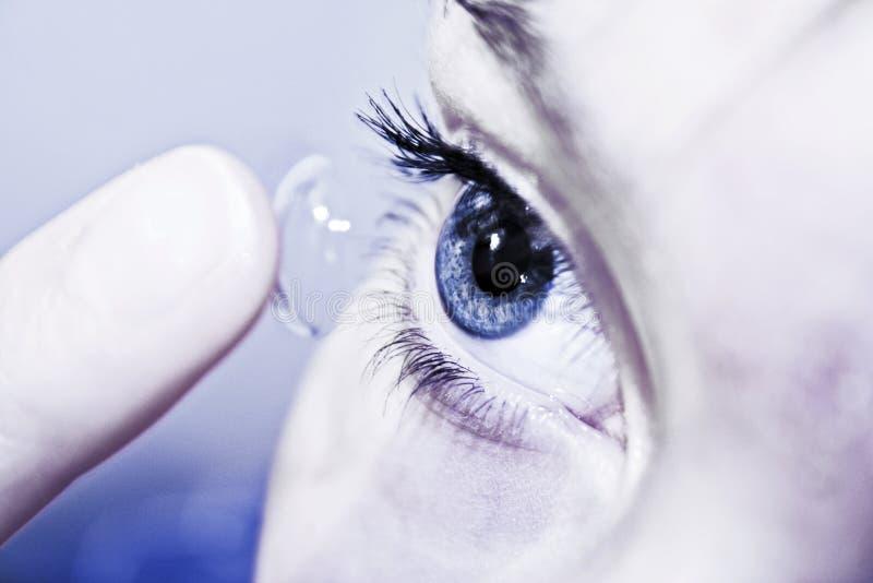 kontaktlins royaltyfri fotografi