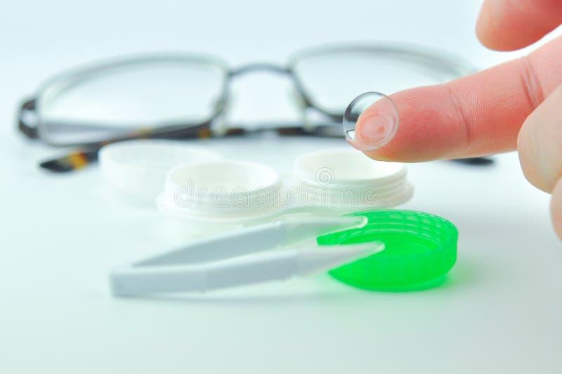 kontaktlins arkivbild