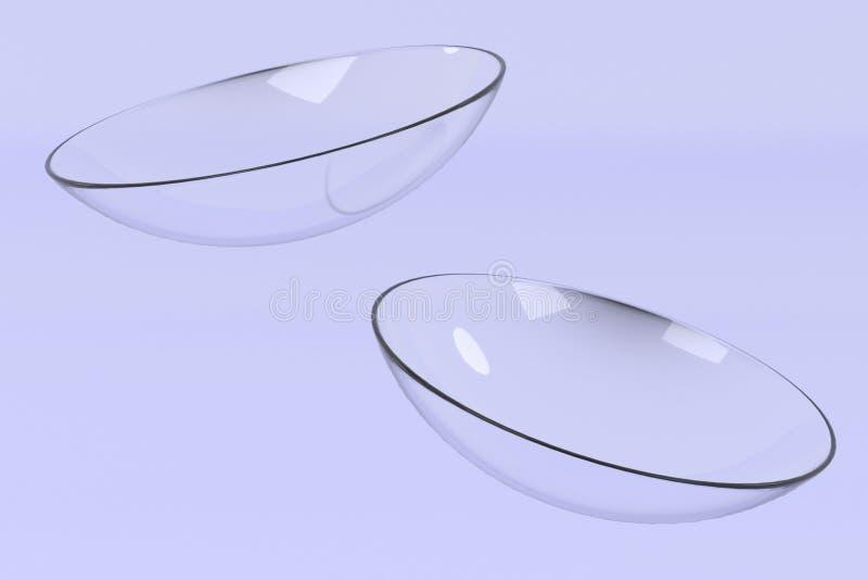 Kontaktlinser stock illustrationer