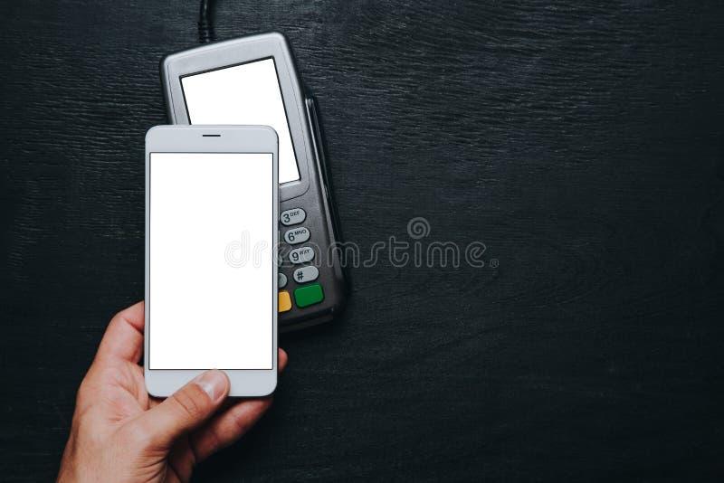 Kontaktlose Smartphone-Zahlung lizenzfreies stockbild