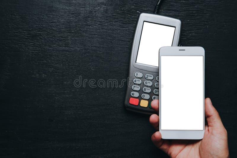 Kontaktlose Smartphone-Zahlung stockfotografie