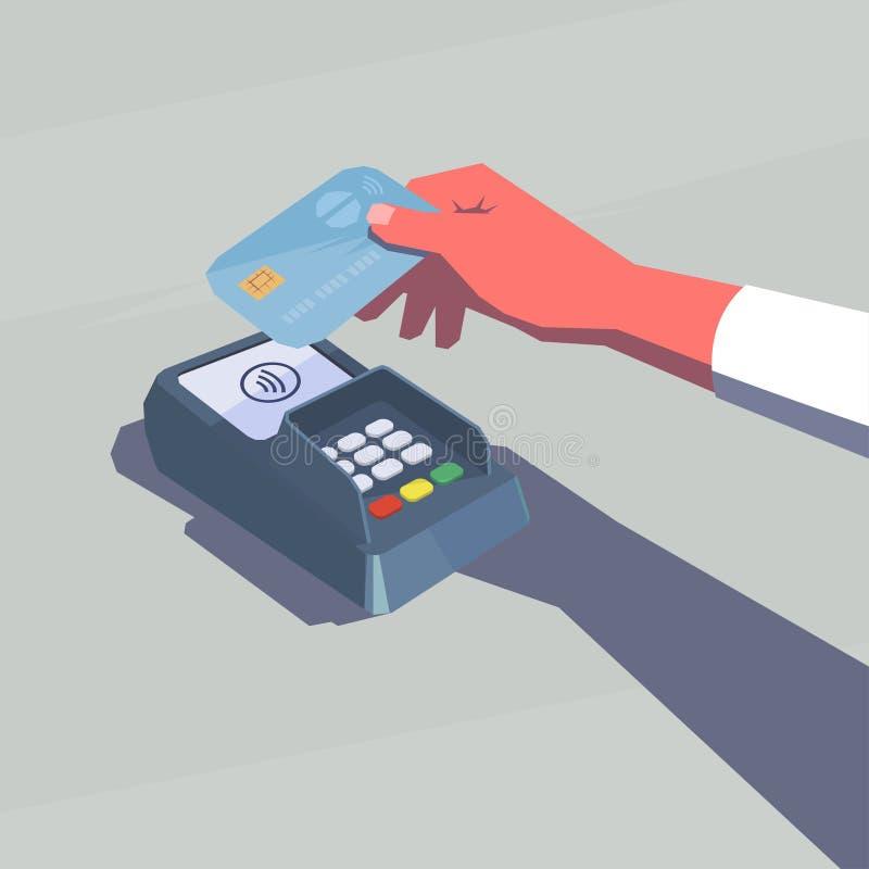 Kontaktlose Zahlung lizenzfreie abbildung
