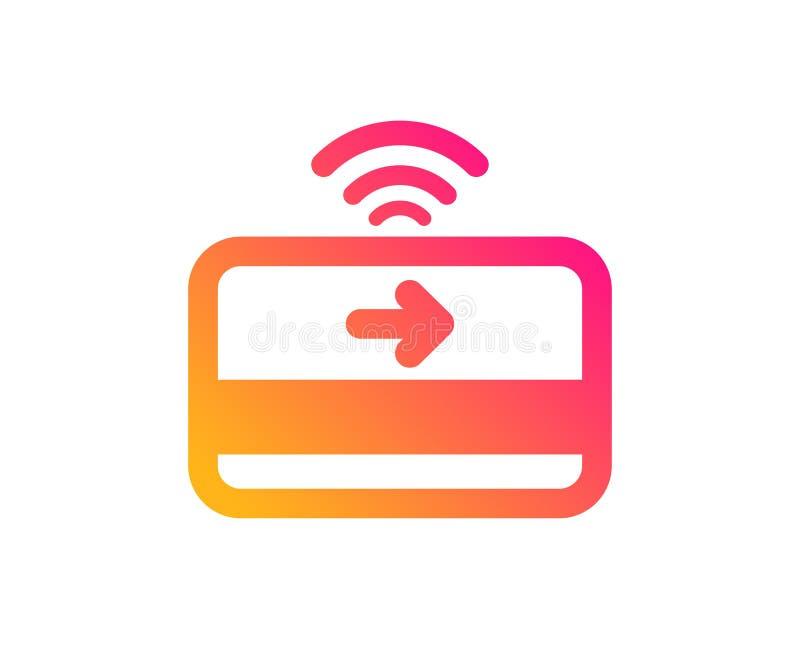 Kontaktlose Zahlungsikone Fügen Sie Kartenpiktogramm ein Vektor stock abbildung