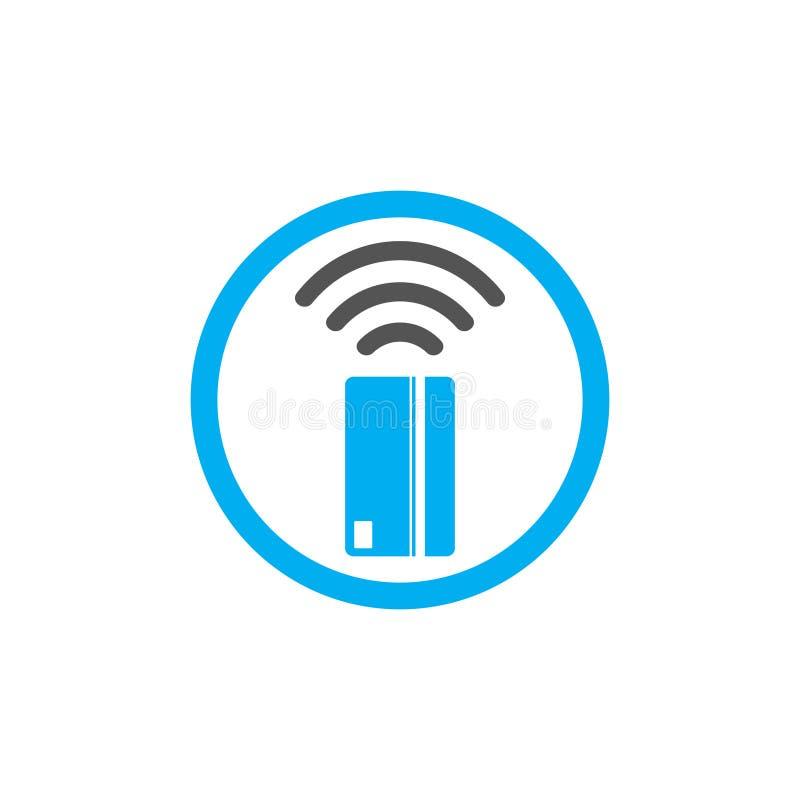 Kontaktlose Zahlungsikone Nahfeldkommunikation ( NFC) Kartentechnologie-Konzeptikone Klopfen Sie, um zu zahlen Auch im corel abge lizenzfreie abbildung