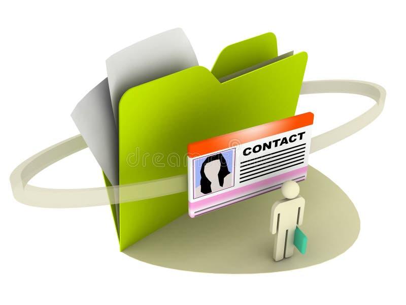 kontaktmapp stock illustrationer